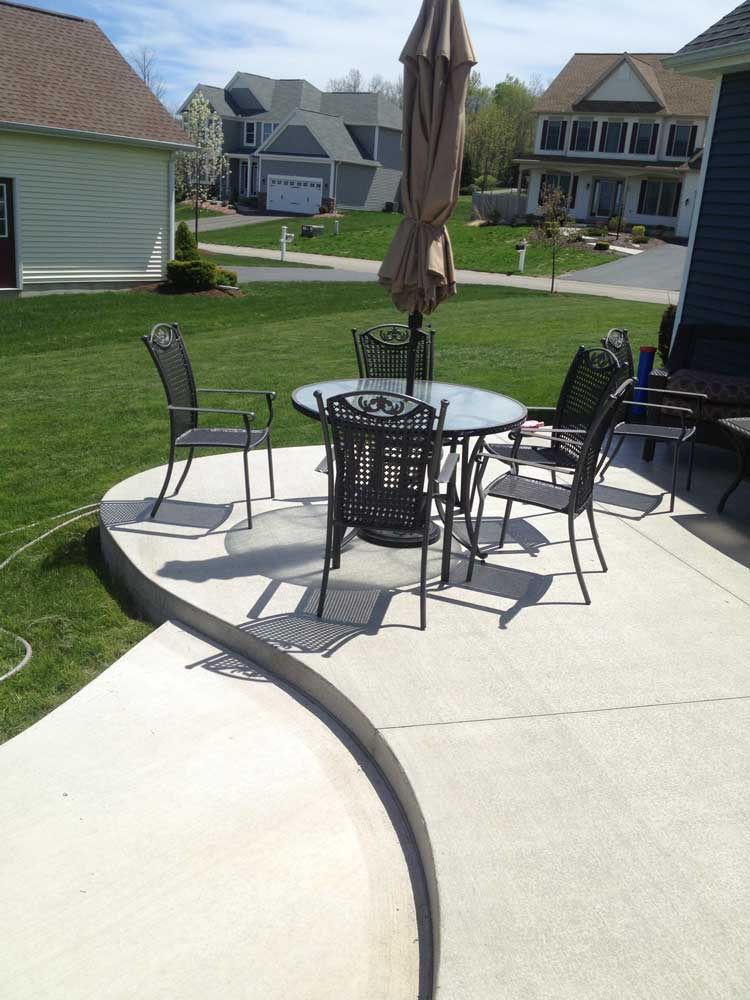 Curved Cement Patio